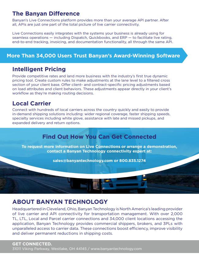 LTL Carrier Brochure | Banyan Technology